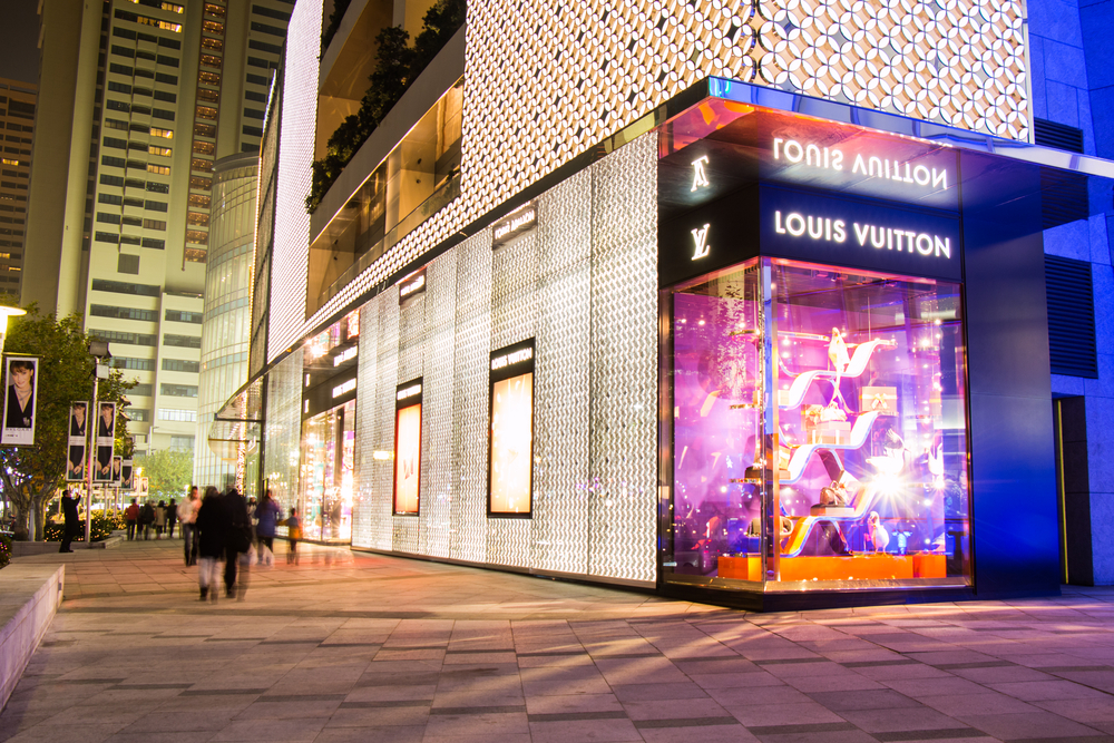 Louis Vuitton store at Plaza 66 Shopping Center in Shanghai. Singhanart / Shutterstock.com