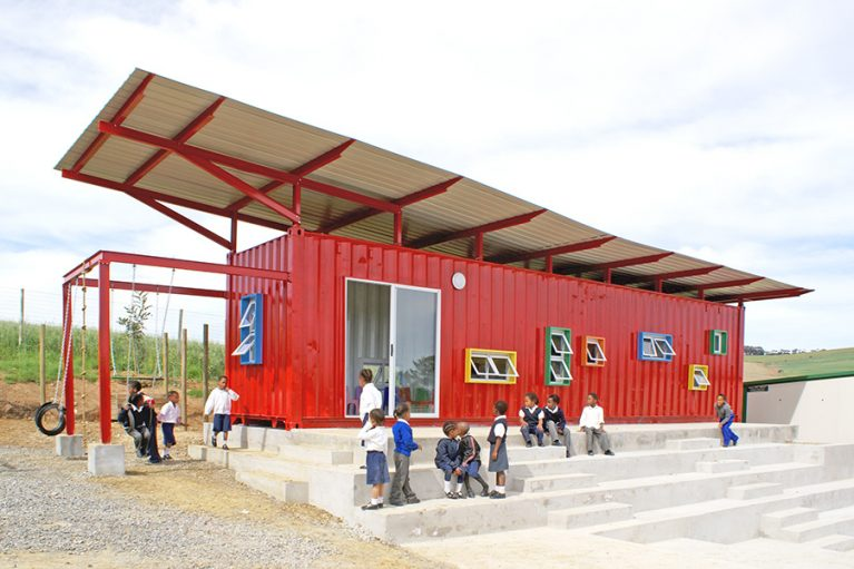 The most innovative uses for urban shipping containers blueprint the vissershok school in cape town south africa is a little red storage container schoolhouse that serves 24 underprivileged children from the du noon malvernweather Gallery